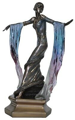 Veronese Bronze Figurine Art Deco Lady Reproduction Statue Gift Home Decor