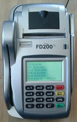 First Data Fd200ti Ethernetdial Cleared Credit Card Machine W Fd-10 Pin-pad