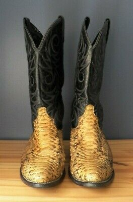 ACME - SNAKE SKIN WESTERN BOOTS - MEN'S SIZE 10.5 D - FREE SHIPPING