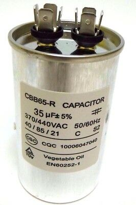 35uf Mfd 370 V 440 V 370440 Vac Oil Filled Motor Run Capacitor Cbb65 50x85mm