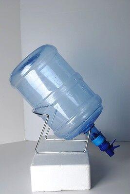 Разное Silver Metal Cradle&Blue PlungerTap Dispenser