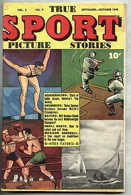 True Sport Picture Stories Vol 3 #9-1946 vg+ Eddie Arcaro Reuben Shank