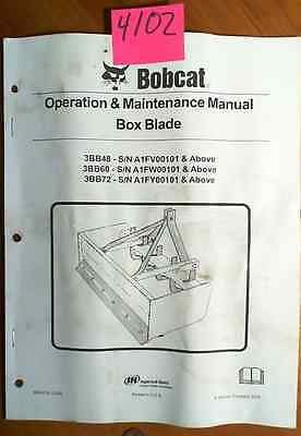 Bobcat Box Blade 3bb48 3bb60 3bb72 Operation Maintenance Manual 6904724 306