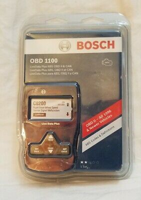 BOSCH OBD 1100 DIAGNOSTIC CODE SCANNER ABS OBD II LIVE DATA NEW FREE SHIPPING