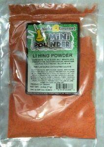 Aloha Gourmet Li Hing Mui Powder Hawaii's Favorite Snack Seasoning Powder 2.5 oz