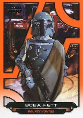 Star Wars Galactic Files Reborn Orange Parallel Base Card ESB-1 Boba Fett