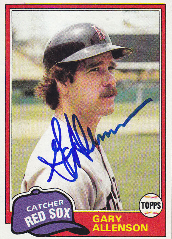 1981 Topps #128 Signed Gary Allenson  Red Sox Autograph Catcher JSA