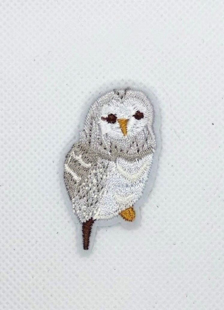 small cute gray Owl Sew Iron On Patches  Embroidered Patch M