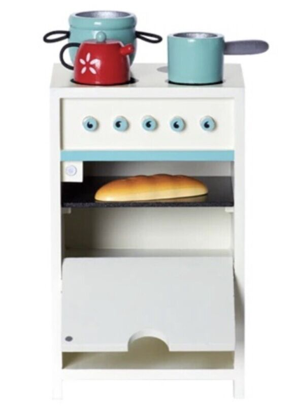 New Maileg Stove w/ Utensils Kitchen Mini Oven Discontinued