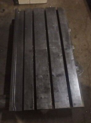 39.25 X 21 X 5 Steel Welding T-slotted Table Cast Iron Layout Plate3 Slot