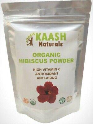 Hibiscus Flowers (HIBISCUS Flower POWDER 100% Raw from India,USDA Certified Organic)
