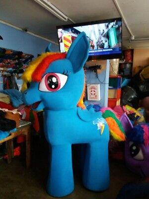 Mein Kleines Pony Regenbogen Streifen Hell Blau Einhorn - Einhorn Maskottchen Kostüme