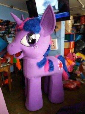 My Little Pony Dämmerung Funkelnd Lila Einhorn Maskottchen - Einhorn Maskottchen Kostüme