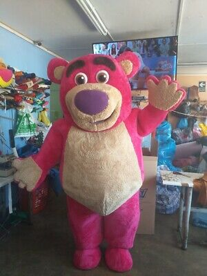 Lotso Pink Bear Toy Story Mascot Costume Party Character Birthday