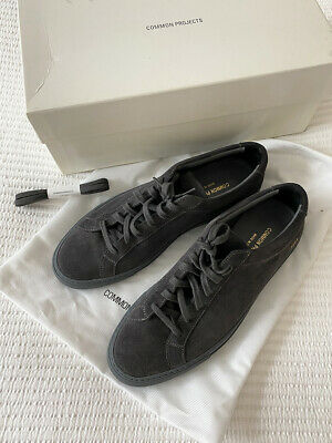 Common Projects Gray Suede Achilles Low Sneakers Size 41