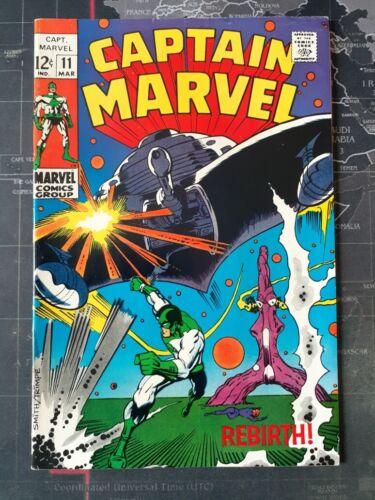 Captain Marvel 11 VF+ 1969 Beautiful