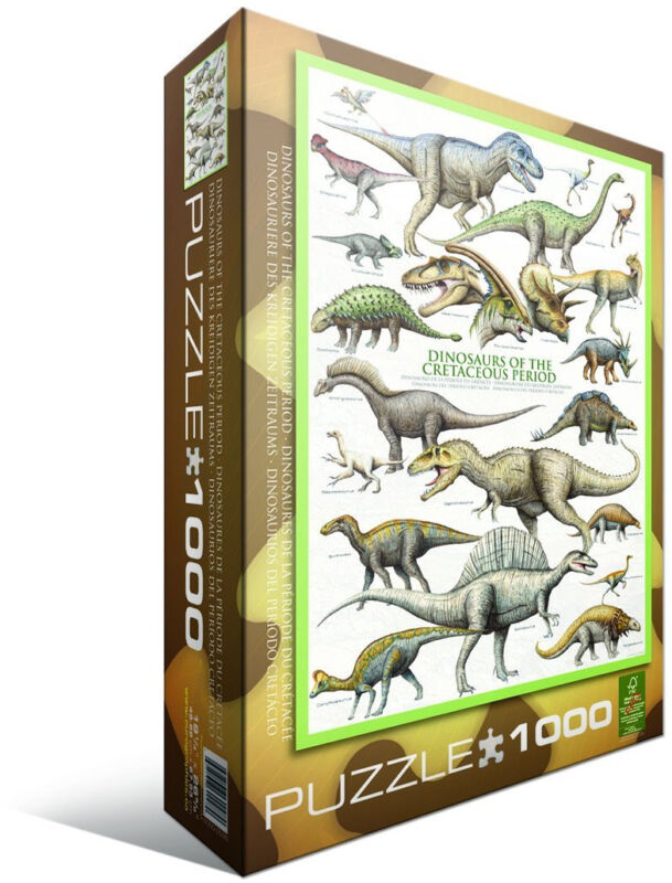 Dinosaurs of the Cretaceous Period 1000 Piece Jigsaw Puzzle Eurographics Era Big