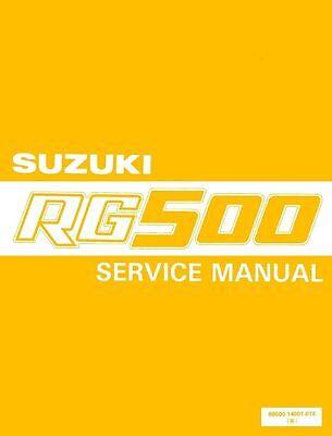 SUZUKI RG 500 WORKSHOP SERVICE MANUAL 500 GAMMA 230 PAGES paper bound copy