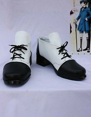 Black butler II ciel Cosplay Schuhe Kostüm Shoes Costume Weiß scarpa (Weiße Kostüm Schuhe)