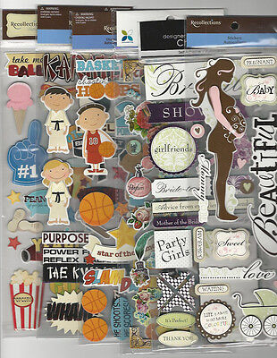 U Choose  Assorted 12  Long 3D Stickers Recollections Me   My Big Ideas Momenta