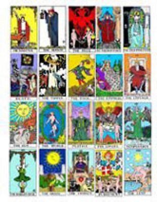 Dollhouse Miniature Tarot Cards