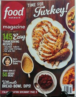 Food Network Magazine Nov 2016 Time For Turkey Thanksgiving FREE SHIPPING sb