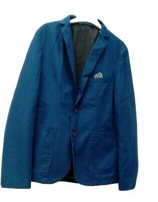 BURTON LONDON  Mens BLUE 100% COTTON JACKET WITH PATCH POCKET SIZE M,CHEST 38-41