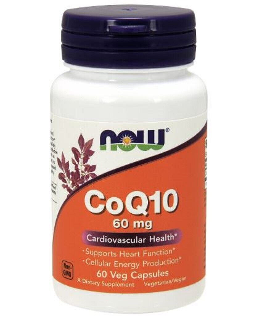 CoQ10 60 mg 60 Vcaps by Now Foods