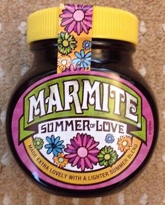 MARMITE JAR SUMMER OF LOVE LIMITED EDITION NEW & SEALED 250g - FREE POSTAGE