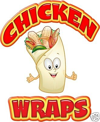 Chicken Wraps Decal 14 Sandwich Concession Van Food Truck Food Vinyl Menu Signs