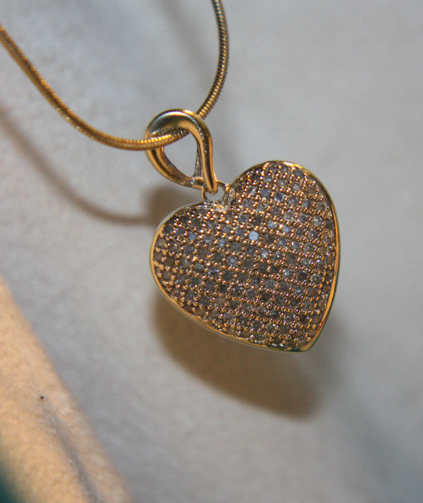 Ross simons 14k yellow gold sterling silver pave diamond for Ross simons jewelry store