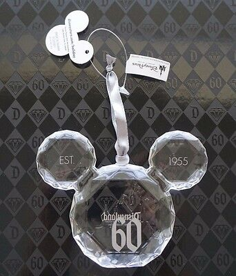 NEW Disney Parks Disneyland 60th Diamond Celebration Mickey Icon Gem Ornament