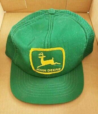 Vintage John Deere Trucker Hat Patch Snapback Green Mesh Cap / Hat Swingster
