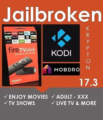 Amazon Fire TV Stick Kodi 17.3 with Alexa Voice Remote 2nd GEN Quad Core