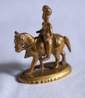 Sculpture Figurine Bronze Rider India