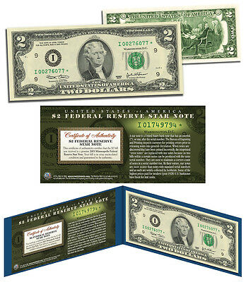2003 $2 Minneapolis I* BEP Uncirculated Rare Star Note w/Folio & Certificate COA