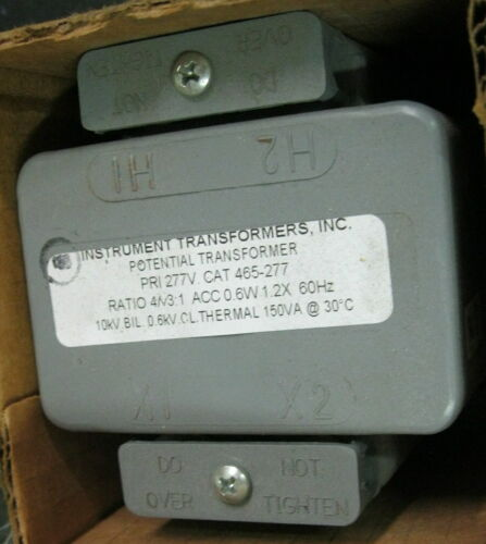 Instrument Transformers Inc. 465-480 Potential Transformer