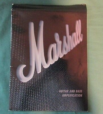 Marshall Guitar and Bass Amplification Catalog