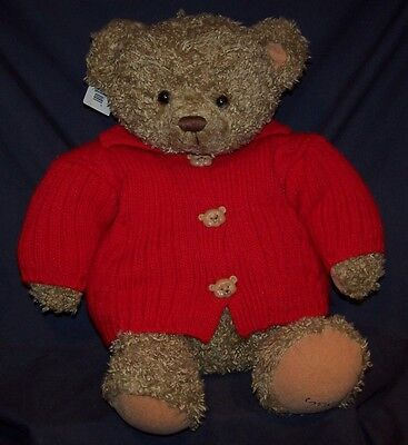 """Teddy Bear MARY Hallmark 18 1/2"""" Plush Lovey Toy Red Sweater NEW with Tag"""