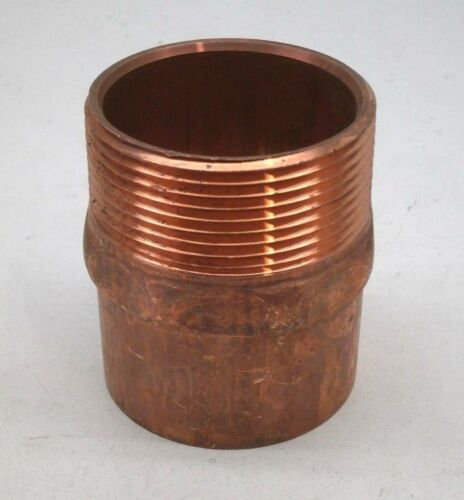 """2-1/2"""" Threaded Male Copper Pipe Adapter Fitting MIPT 2.5"""" MIP x C"""