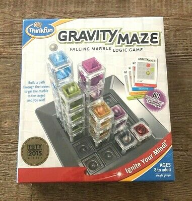 *New* ThinkFun Gravity Maze Falling Marble Logic Game Toy of the Year Winner