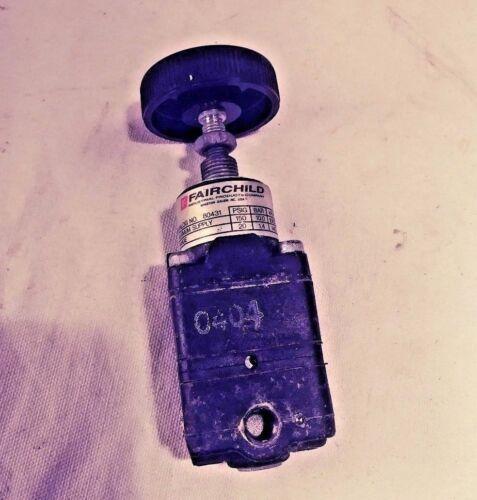 "Fairchild air pressure regulator 80431 1/8"" NPT NPTF"