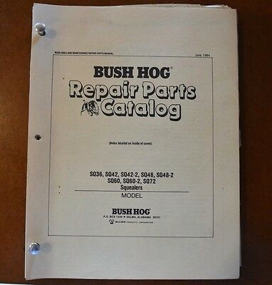 Bush Hog Repair Parts Catalog Compilation Squealers Rotary Cutters Flail Mowers