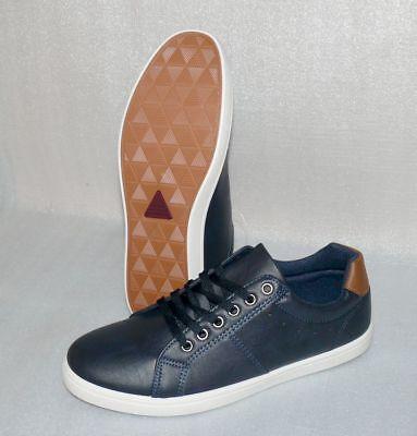 Norway Originals Leder Herren Schuhe Freizeit Sneaker EU 46 US12 Navy True White True Navy Schuhe