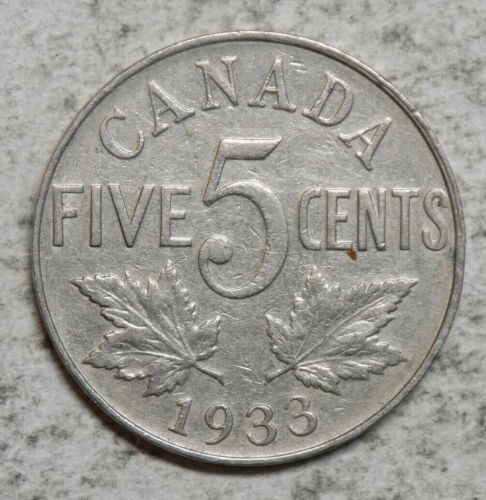 Canada 1933 5 Cents Coin
