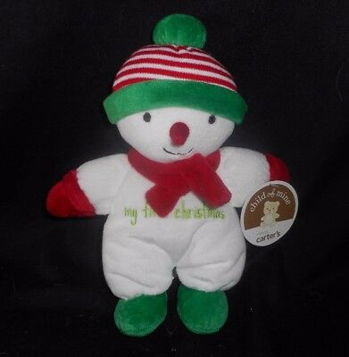 NEW W/ TAG CARTER'S MY FIRST CHRISTMAS BABY SNOWMAN STUFFED ANIMAL PLUSH RATTLE