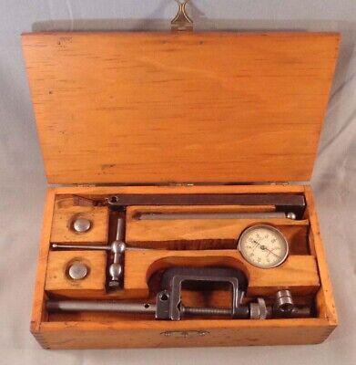 Vintage Starrett No. 196 Dial Indicator Gauge Set In Wood Box