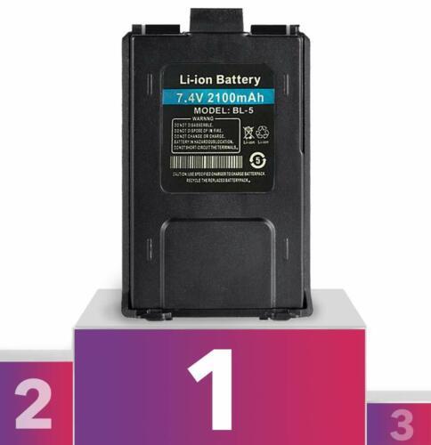 Baofeng Battery BL-5 Li ion 7.4V 2100mAh for UV-5R v2+ BF-F8HP FULL USA Warranty