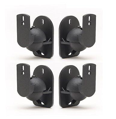Universal Bose Jewel Cube Speaker Wall Mount Stand Bracket (4 Pack) Black Cube Speaker Wall Bracket