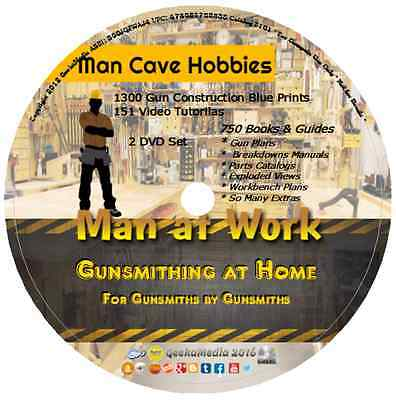Gunsmithing at Home 151 Video Tuts 750 Guides Books gunsmith made easy gun learn